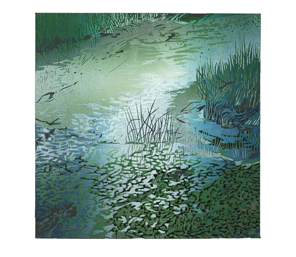 Lichtval, 2017, 28 x 28 cm
