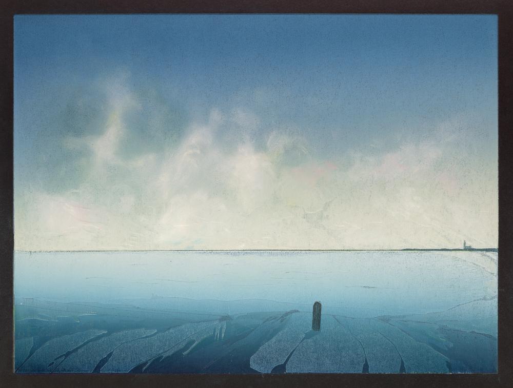 Het blauwe uur, 2018, 30 x 40 cm